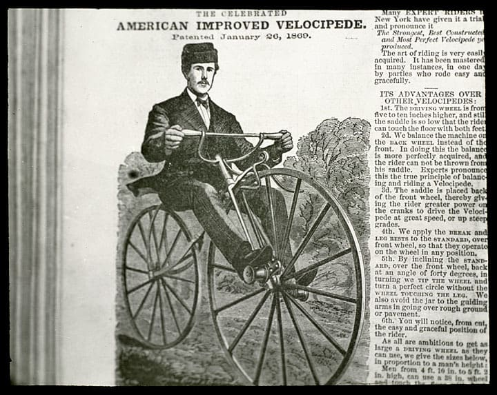 American improved velocipede of 1869, Kenosha History Center