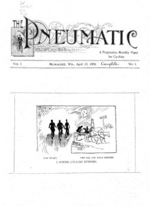 Cover of The Peneumatic magazine, 1893