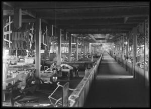 Interior of Sterling Bicycle Factory Kenosha Wisconsin