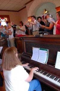 Gymanfa Ganu singers at Peniel Chapel