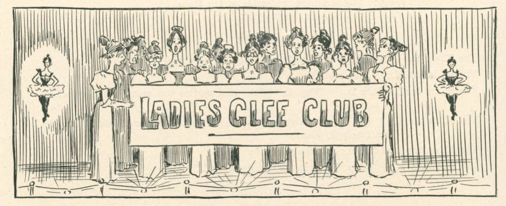 Ladies Glee Club, Jay Ding Darling, Beloit College Yearbook.