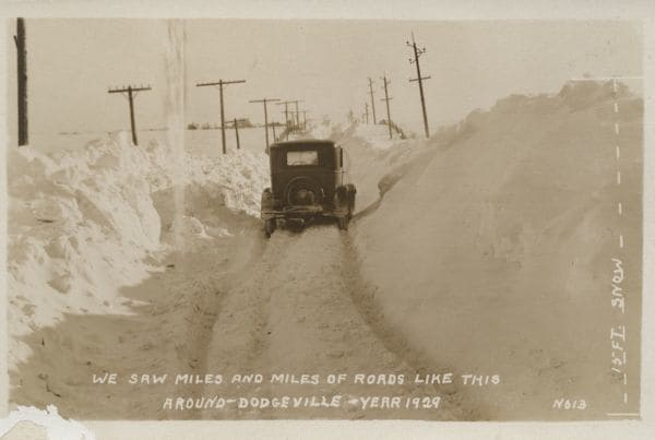 We saw miles and miles of roads like this around Dodgeville--Year 1929.