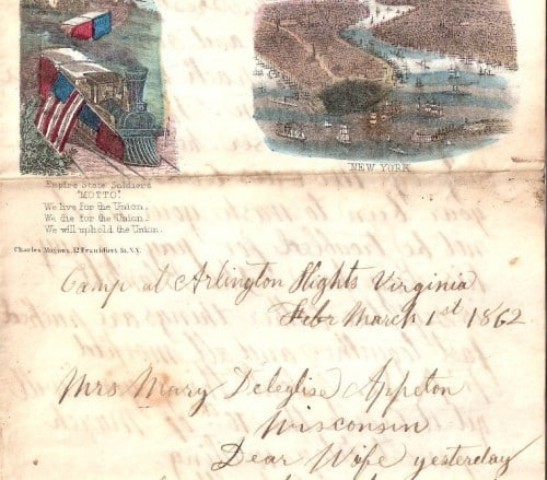 Francis Deleglise Civil War letter 1862