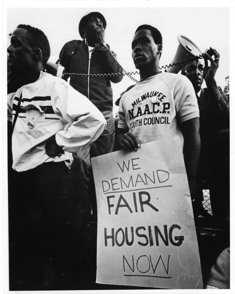 Fair housing demonstration, Milwaukee, 1967.