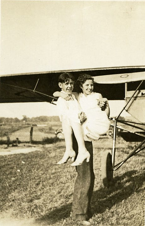 Jack Cahill and Burnice Pulasky, Kenosha County airport.
