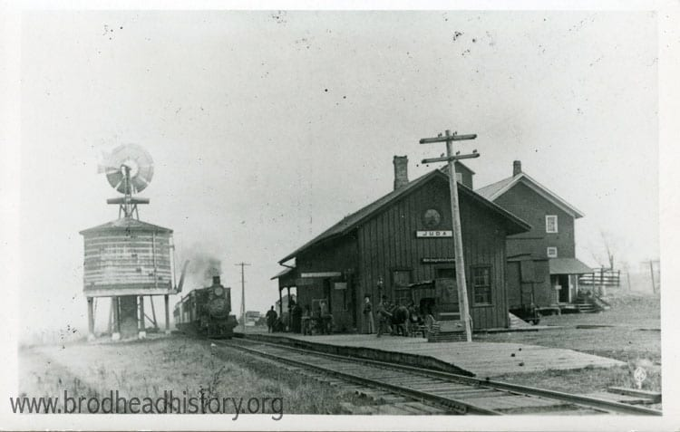 Juda railroad depot