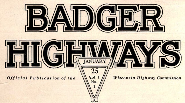 Badger Highways, January 1925.