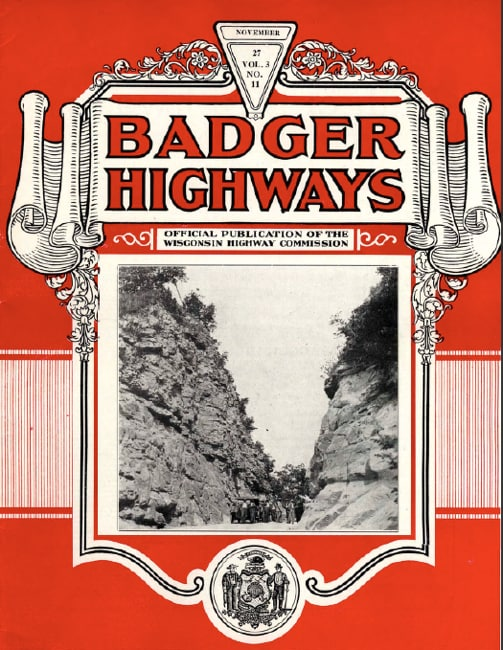 Badger Highways, November 1927.