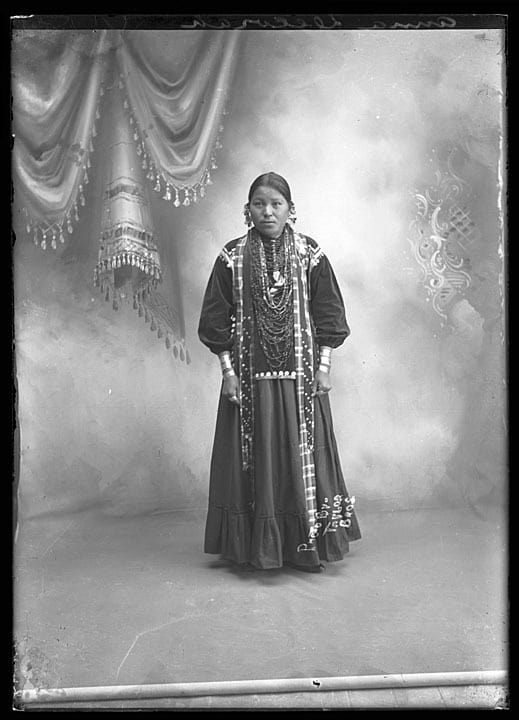Taylor Brothers, portrait of Anna Decorah, Adams County, Wisconsin, 1910-1930.