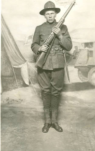 Portrait of Joseph Gussert, 1919. Brown County War History Committee Collection, Neville Public Museum of Brown County.