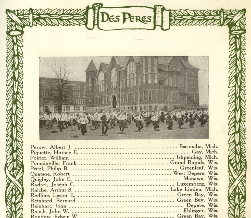 St. Norbert College yearbook, 1919
