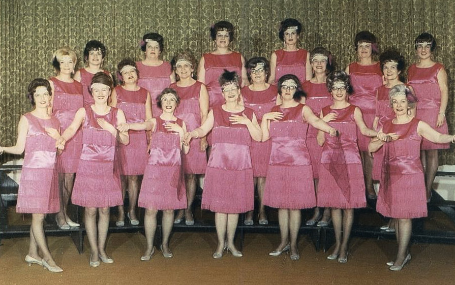 Chippewa Valley Sweet Adelines barbershop-style women's choral group, 1969. Chippewa Valley Museum.