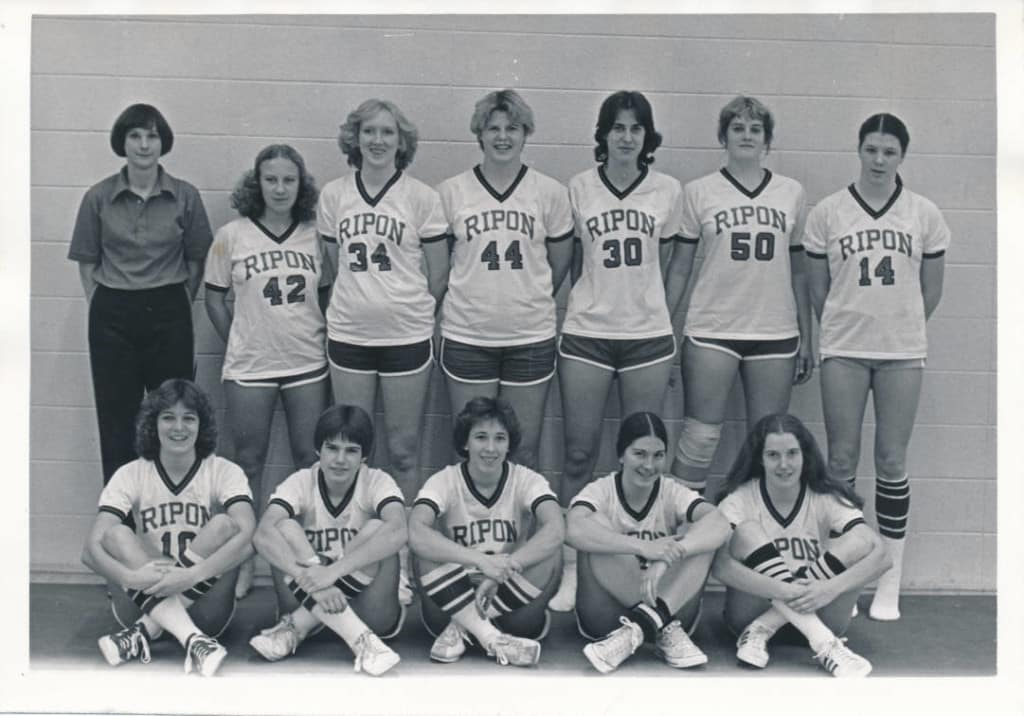 Ripon College Women's basketball team, 1979-1980. Ripon College Archives.