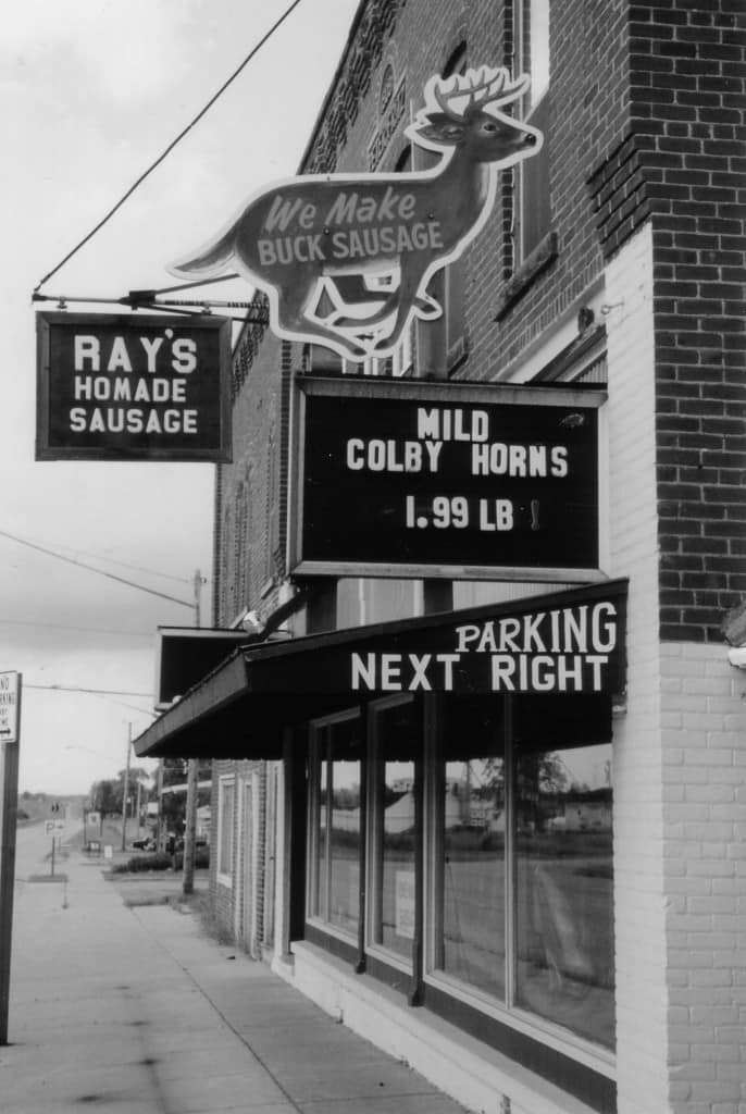 Ray's Meat Market, Unity (Trempealeau County), ca. 1991. Photo by Terese Allen.