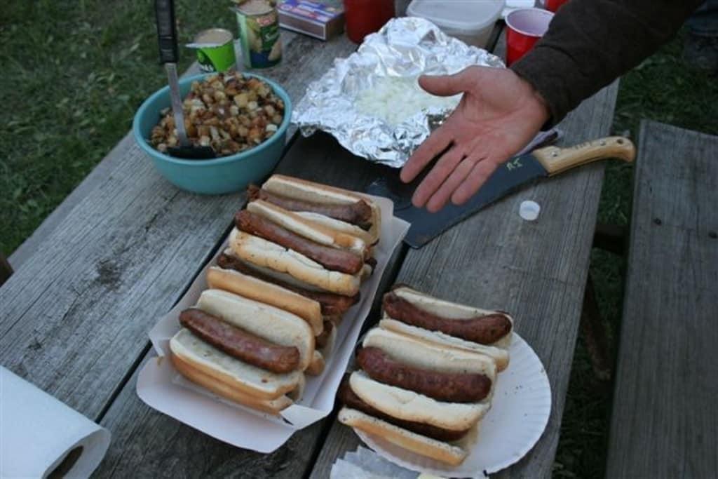 Bratwurst picnic, ca. 2012. Photo by Terry Hannan.