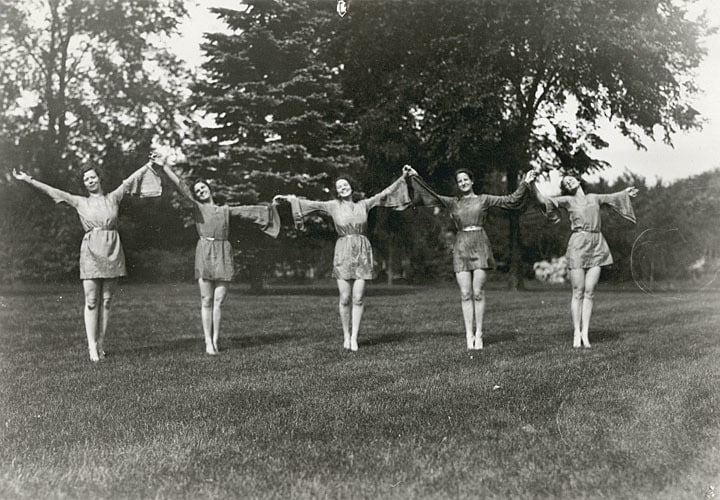 Orchesis dance at UW-La Crosse, ca. 1934. Murphy Library, University of Wisconsin-La Crosse.