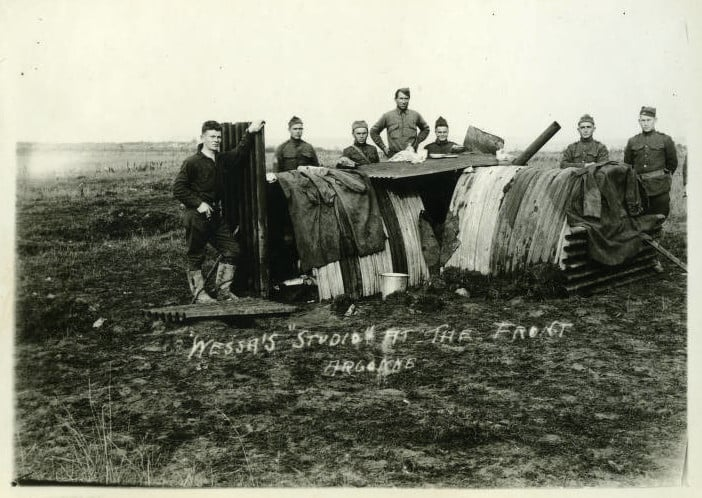 """Wessa's 'studio' at the front, Argonne."" Langlade County Historical Society."