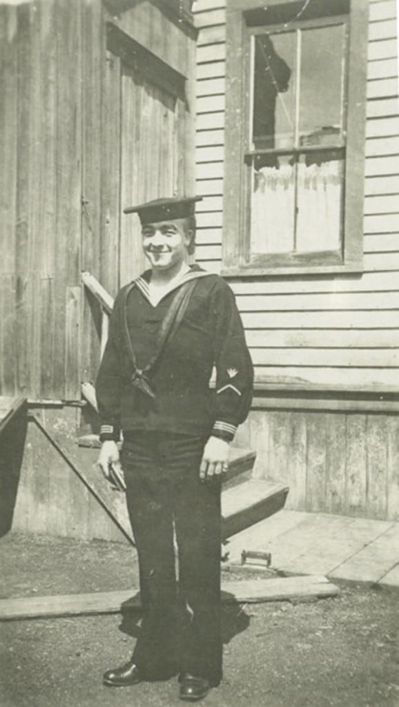 Albert L. Bork was just a few weeks shy of his nineteenth birthday when he enlisted in the Navy. Milwaukee Public Library.