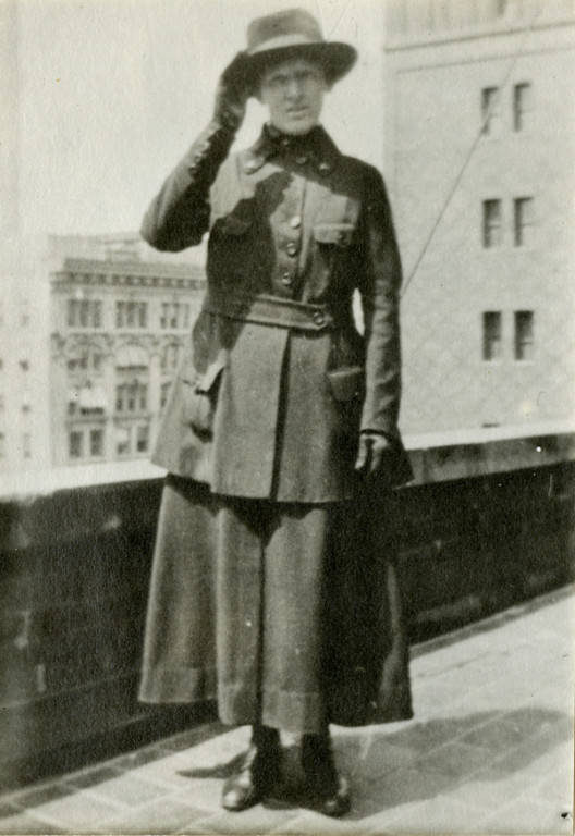 C. M. Lichtenberg, one of dozens of servicewomen documented in the collection. Milwaukee Public Library.