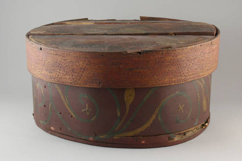 Norwegian bentwood box, McFarland Historical Society