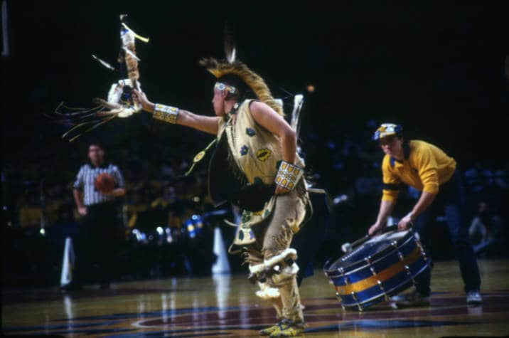 First Warrior, 1985. Marquette University Archives.