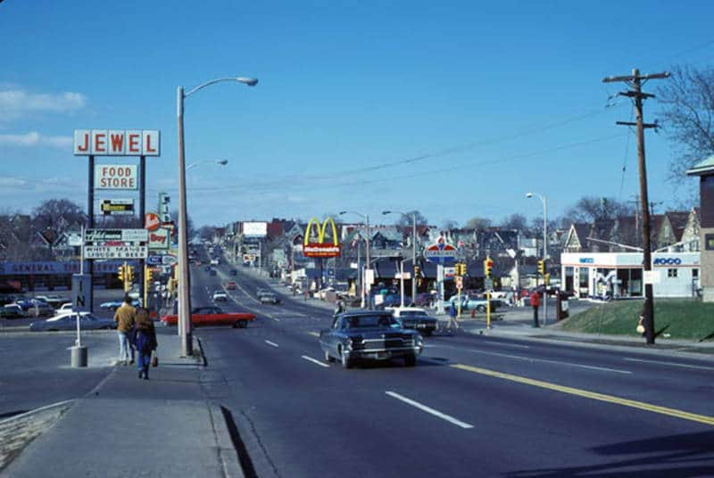 McDonald's becomes part of the landscape. North 35th Street looking north from Highland Boulevard in Milwaukee, 1978. American Geographical Society Library, University of Wisconsin-Milwaukee Libraries.