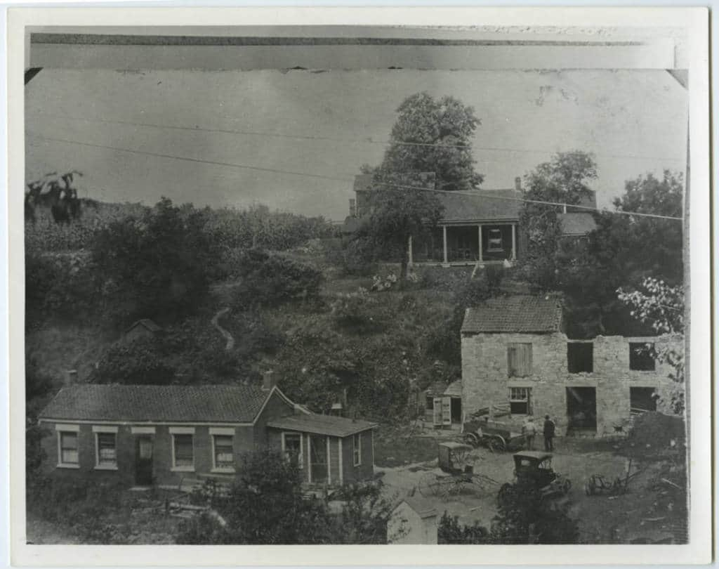 Shake Rag Valley - potters house and pottery. Mineral Point Library Archives.