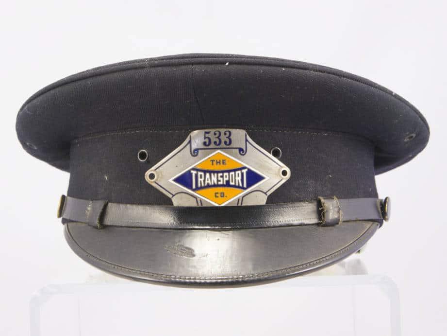 Motorman's uniform cap. East Troy Electric Railroad.