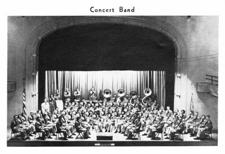 Madison Central High School concert band, 1954. Dane County Historical Society.