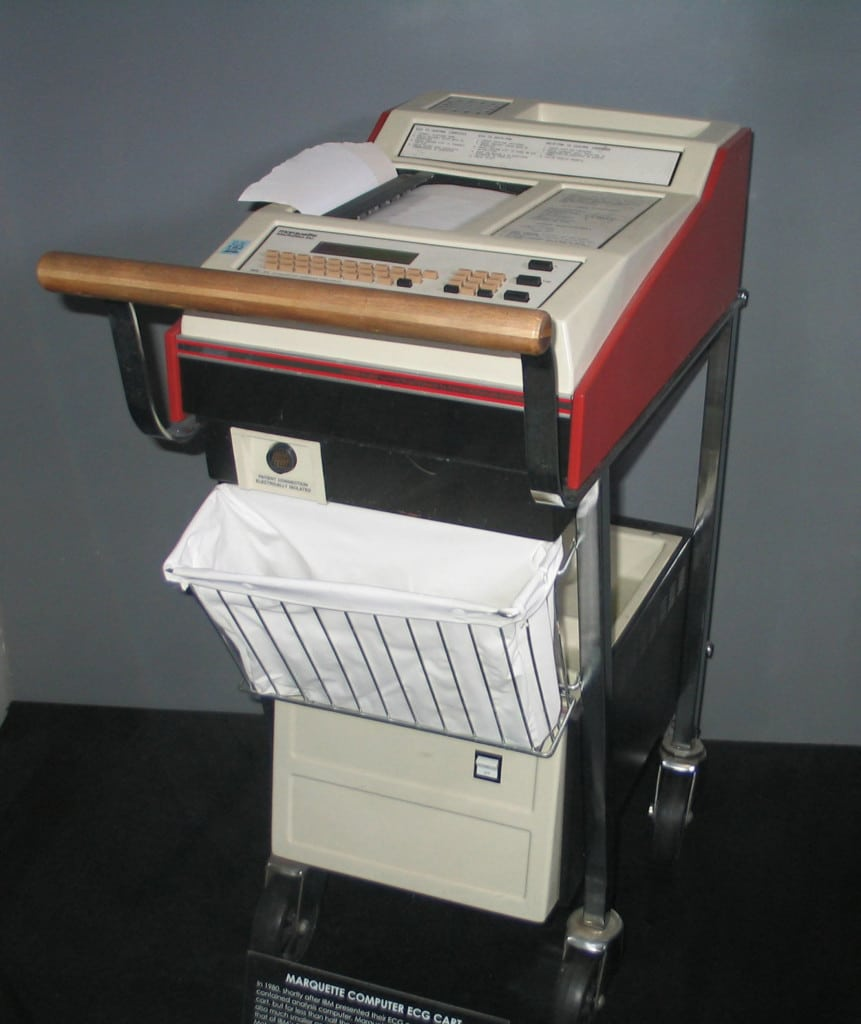 Marquette Electronics ECG Cart, 1980. Medical College of Wisconsin Libraries.