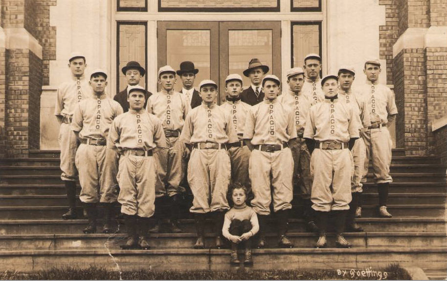 Western Wisconsin Championship Baseball team, sponsored by the Onalaska Pickle and Canning Company (OPACCO), 1913. Onalaska Public Library and Onalaska Area Historical Society.