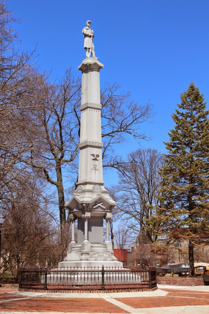 Sheboygan County Civil War memorial. Photo courtesy Melinda Roberts, Wisconsin Historical Markers (c) 2014.
