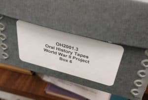 Oral history tapes at the OPM