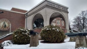 Snowy Oshkosh Public Museum