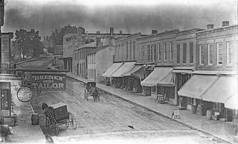 High Street, Mineral Point, 1876-1890