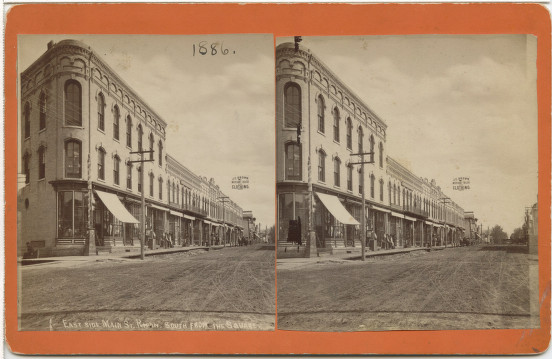 Main Street, Ripon, looking south from square, 1886