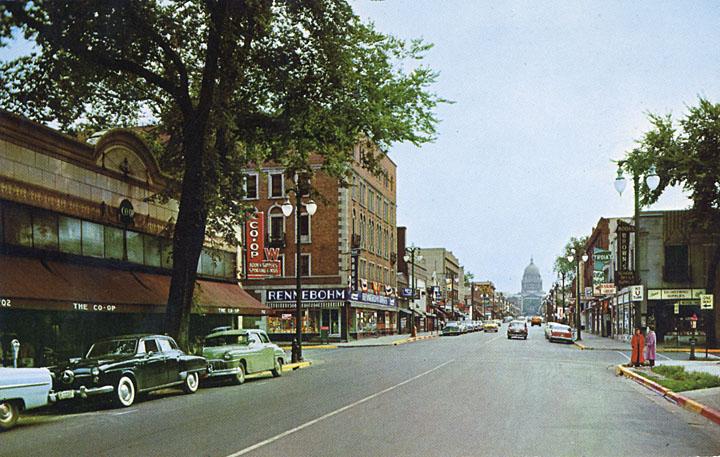 State Street, Madison, 1950-1960.