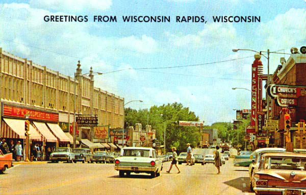Grand Avenue, Wisconsin Rapids, ca. 1960