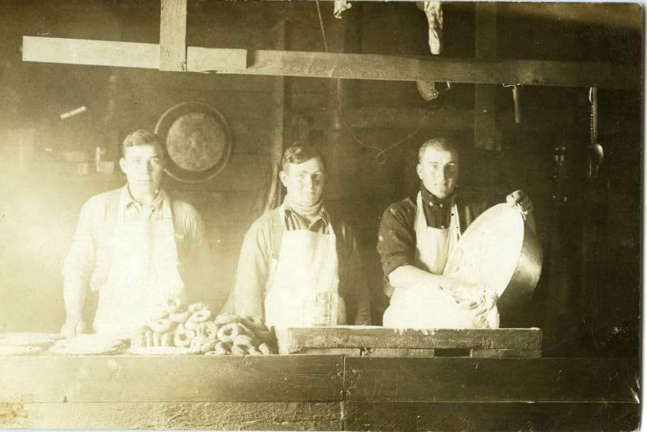 Cooks were high-ranking members of any logging operation because keeping the crew well-fed was essential for morale and productivity. Langlade County Historical Society.