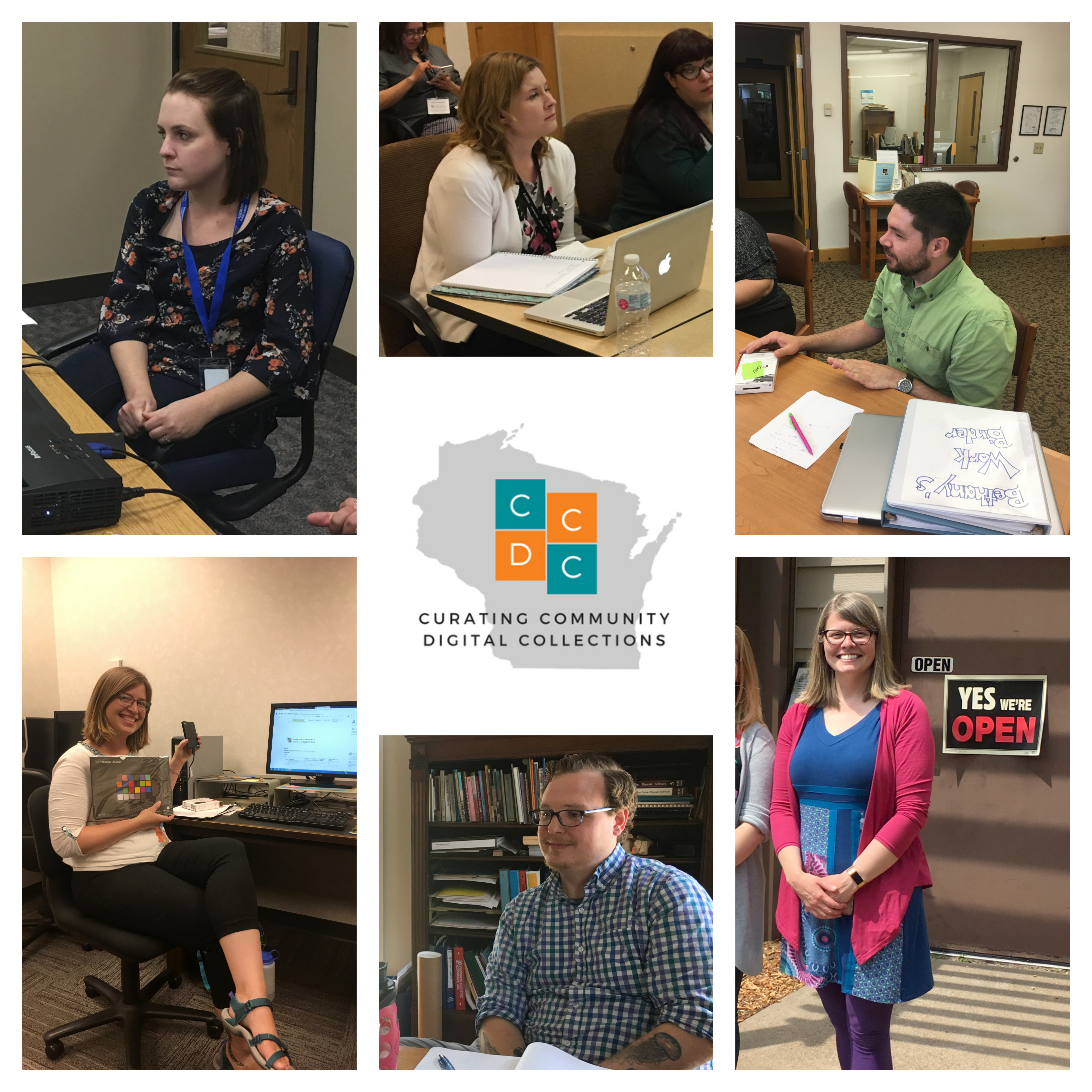 Curating Community Digital Collections 2018 - photo collage of student participants