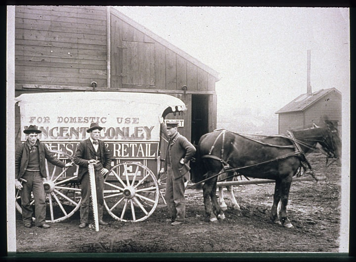 Vincent Conley Wholesale and Retail Pure Lake Ice of Sheboyan, ca. 1900. Manitowoc Public Library/UWDCC.
