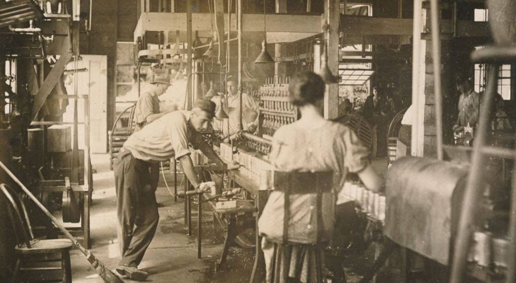 Interior view of Columbia Canning Company