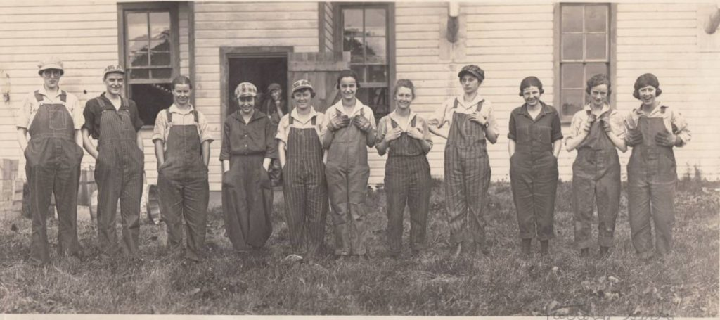 Photograph of women who worked at the West Salem Canning Company.